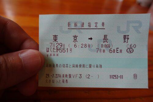 朝早くの新幹線で長野へ