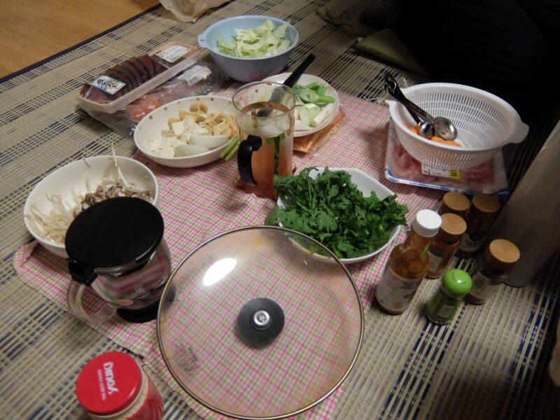 自宅で鍋会