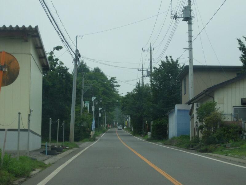 新鹿沢温泉の集落