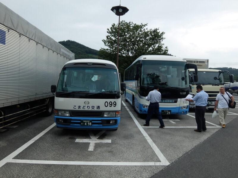 バス乗り換え