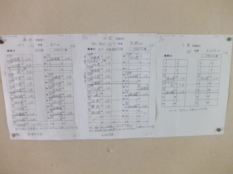 バスの座席表