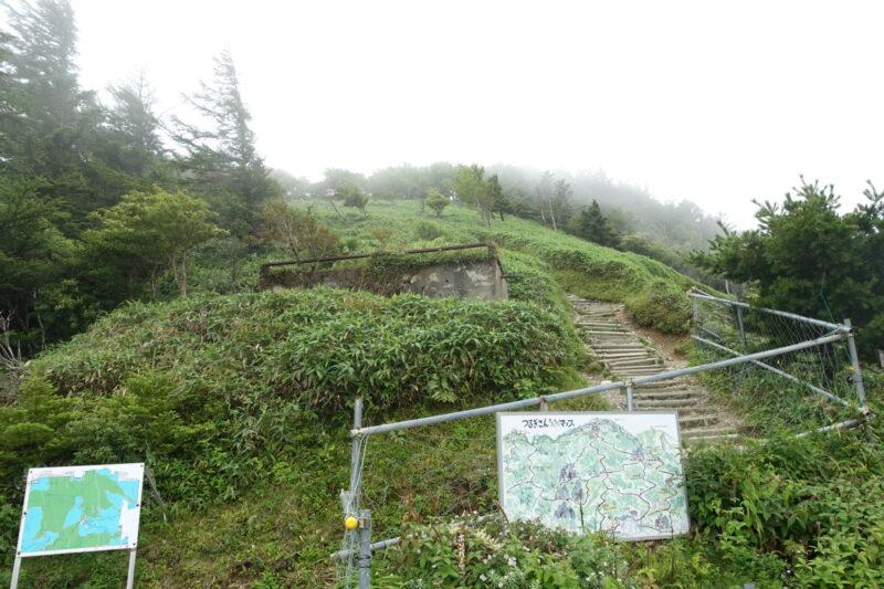 西島から山頂方面