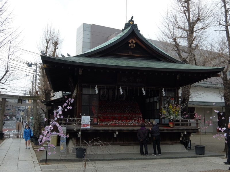 素戔嗚尊神社の雛飾り