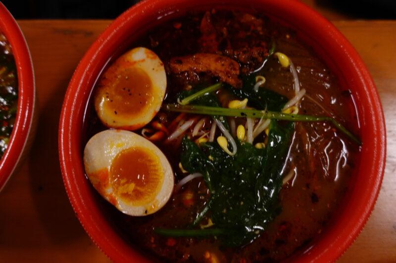 特製四川麻辣湯(半熟味卵と万能ネギ付き)(激辛)