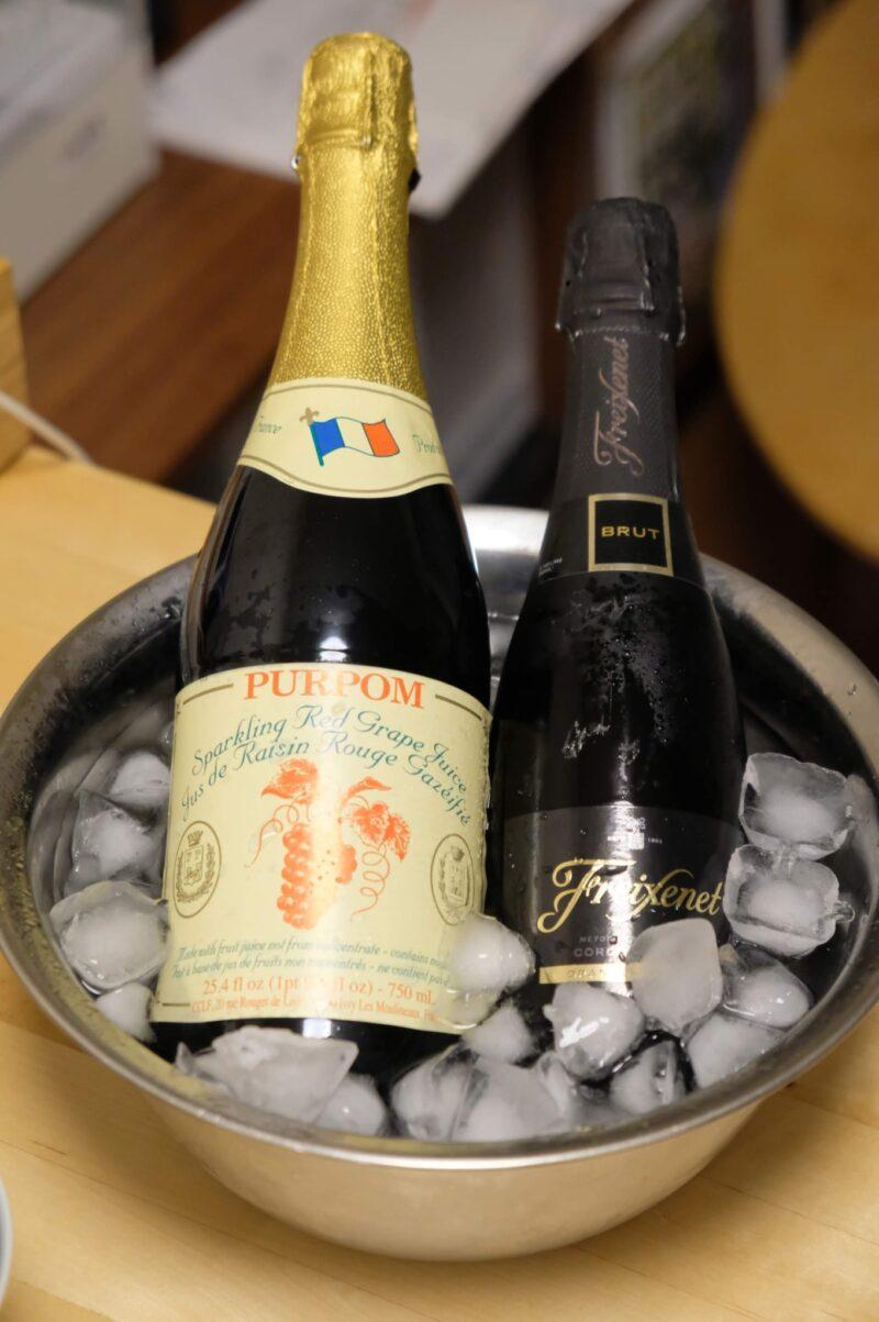 ジュースとスパークリングワイン