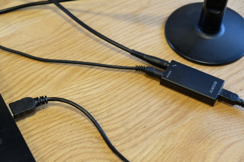 USBと、端子が2つ